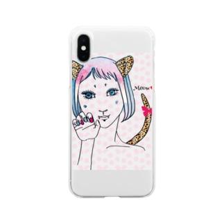 コスプレ少女 Soft clear smartphone cases