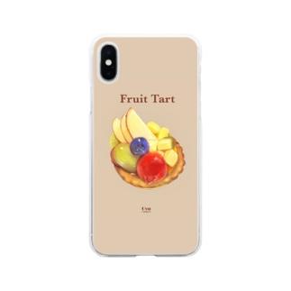 喫茶店のフルーツタルト Soft clear smartphone cases