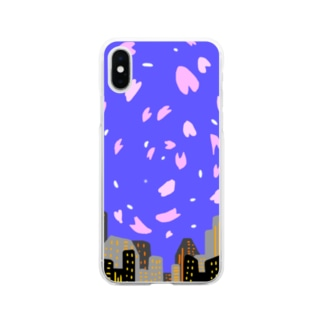 ヨザクラ Soft clear smartphone cases