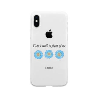 映えと英文 Soft clear smartphone cases
