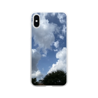 夏の空模様 Soft clear smartphone cases