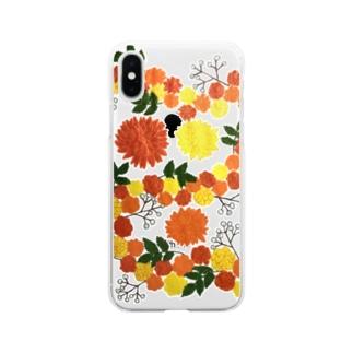 マリーゴールド Soft clear smartphone cases