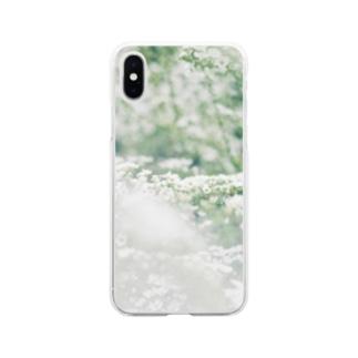 雪柳 Soft clear smartphone cases
