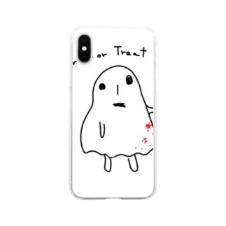 実力行使系ハロウィン Soft clear smartphone cases
