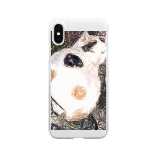 三毛猫のドットさん Soft clear smartphone cases