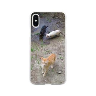 親子 Soft clear smartphone cases