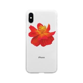 hotaruのお花 Soft clear smartphone cases