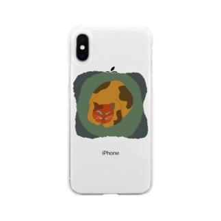 ボスにゃんこ1 Soft clear smartphone cases