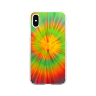サイケデリック Soft clear smartphone cases