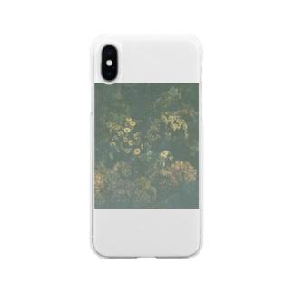 エモい花Tシャツ Soft clear smartphone cases