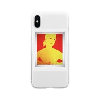 手ぶら Soft clear smartphone cases