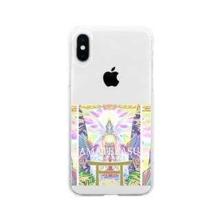 天照大神~AMATERASU~ Soft clear smartphone cases