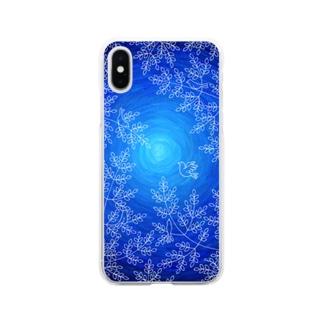 朧月の森 Soft clear smartphone cases