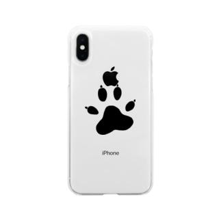 ワンワンアタック Soft clear smartphone cases