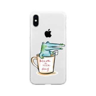 わに、カップin Soft clear smartphone cases