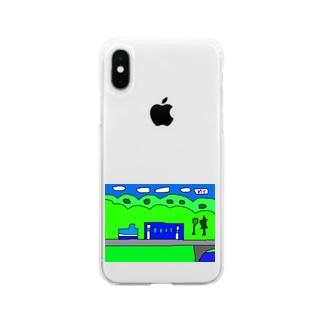 お山のジーゼル機関車 Soft clear smartphone cases