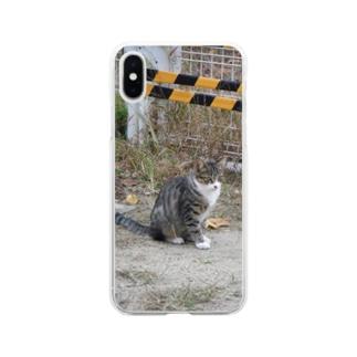 キジにゃん Soft clear smartphone cases