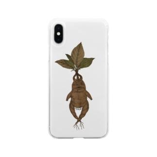 マンドラゴラ Soft clear smartphone cases