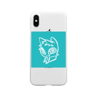 ミャチ太 アイコン Soft clear smartphone cases