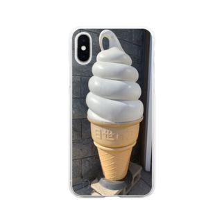 ソフトクリーム Soft clear smartphone cases