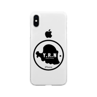サークル Soft clear smartphone cases