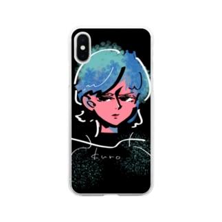 蒼ちゃん Soft clear smartphone cases