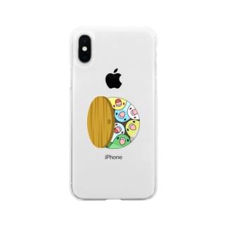 三密です!むちむちマメルリハさん【まめるりはことり】 Soft clear smartphone cases