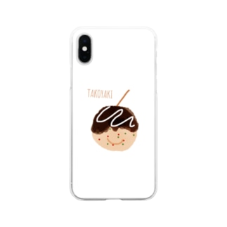 たこやきくん Soft clear smartphone cases