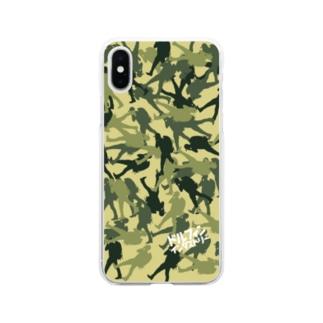 ドルフィンインダストリー&ストックヤード Official storeのカモフラ柄スマホケース Soft clear smartphone cases