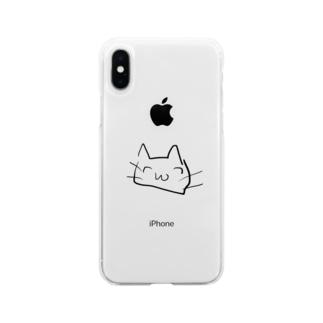ちやんねこ Soft clear smartphone cases