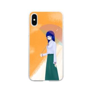 雨上がり Soft clear smartphone cases