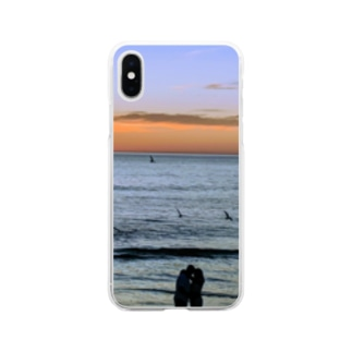 sunset Soft clear smartphone cases