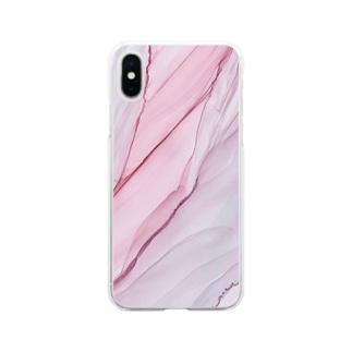 持ち歩けるアート屋さんシリーズ Soft clear smartphone cases