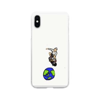 スケボー Soft clear smartphone cases