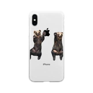 くまてぃーしゃつ! Soft clear smartphone cases