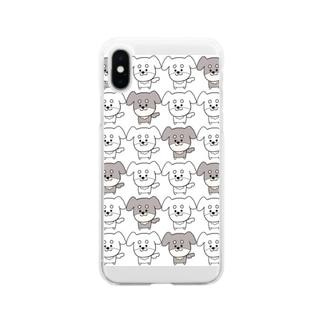 ゆるいぬ (ちょっぴり集合体ver) Soft clear smartphone cases