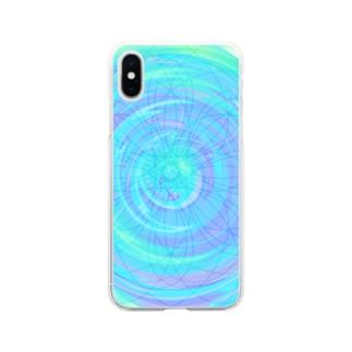 グルグルするなにか Soft clear smartphone cases