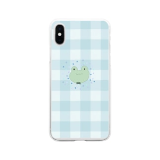 緑がすきなかえる Soft clear smartphone cases