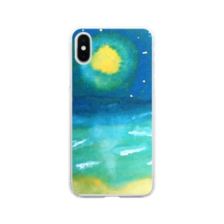sea the moon Soft clear smartphone cases