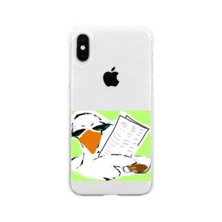 情報屋 トリさん Soft clear smartphone cases