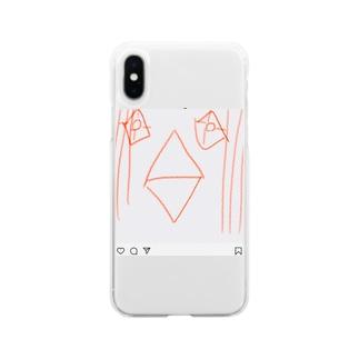 インスタ アマビエさま Soft clear smartphone cases