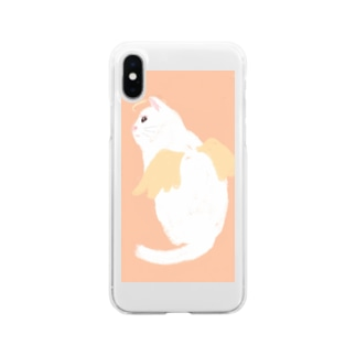 天使ねこ Soft clear smartphone cases