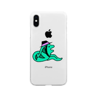 ウツボ Soft clear smartphone cases