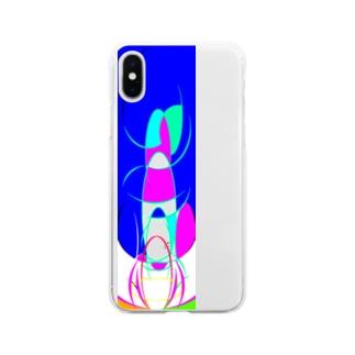 窒息死した青 Soft clear smartphone cases
