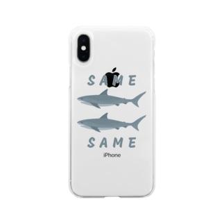 同じ鮫 (SAME SAME) Soft clear smartphone cases