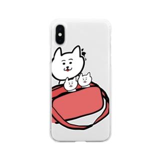 通園バッグでかくれんぼ Soft clear smartphone cases