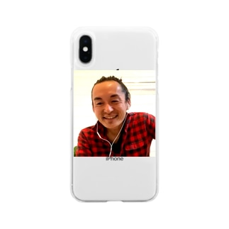 気功師 サティ ハッピーgoods by ハッピーにこちゃん Soft clear smartphone cases