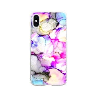 胡蝶の夢 Soft clear smartphone cases