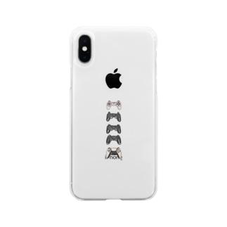 コントローラーくん Soft clear smartphone cases
