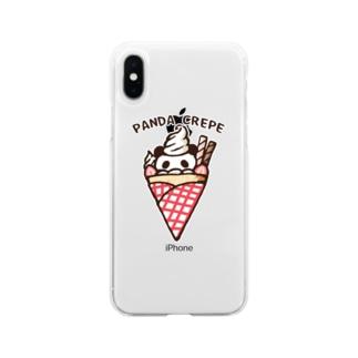 パンダクレープ Soft clear smartphone cases
